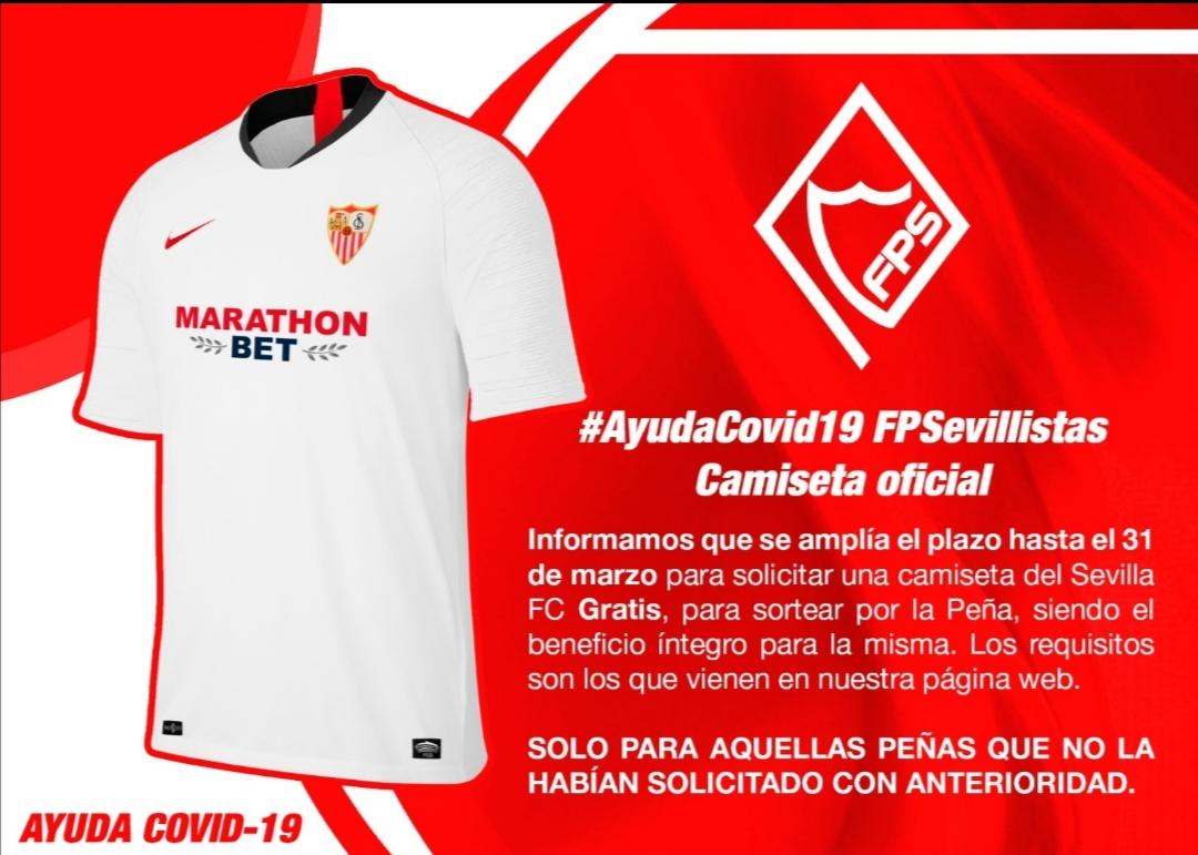 Ampliación plazo para solicitar camiseta oficial – Ayuda Covid19